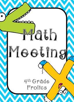 Math Meeting Headers - Turquoise/Gray Theme