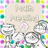 Math Meeting - Kids and Watercolors