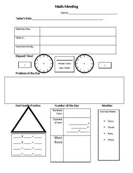 Math Meeting Paper
