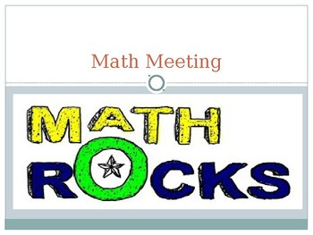 Math Meeting Powerpoint