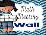 Math Meeting Wall