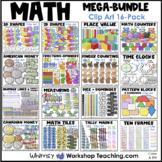 Math Mega Bundle Clip Art (16 Sets 650 graphics) Whimsy Workshop Teaching