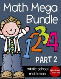 Math Mega Bundle (For Upper Elementary/Middle School Math) PART 2