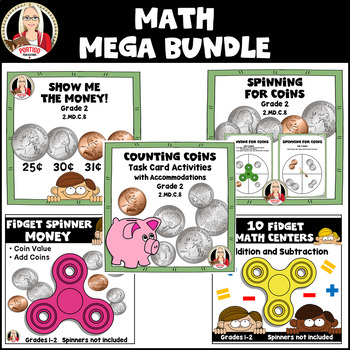 MATH STATIONS money time add subtract place value regrouping balanced equations