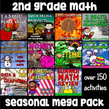 2nd Grade Math Mega Packet - A Year's Worth of Math Activities