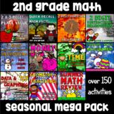 2nd Grade Math Mega Packet - A Year's Worth of Season Math Activities