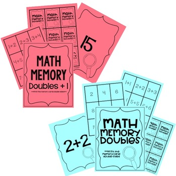 Math Memory: Doubles and Doubles Plus One Facts