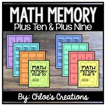Math Memory: Plus Ten and Plus Nine Facts
