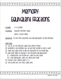 Math Memory: Equivalent Fractions