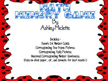 Math Memory Game