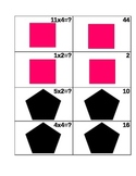Math Memory Game - Addition/ Subtraction/ Multiplication