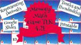 Math Memory Game Representing Decimals Tenths, Hundredths TEK 4.2E Google Slides