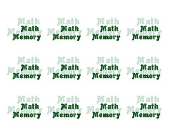 Math Memory Game for 2-Step Equations
