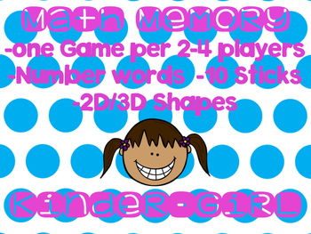 Math Memory Games for Small Groups