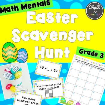 Math Mentals Easter Scavenger Hunt Grade 3