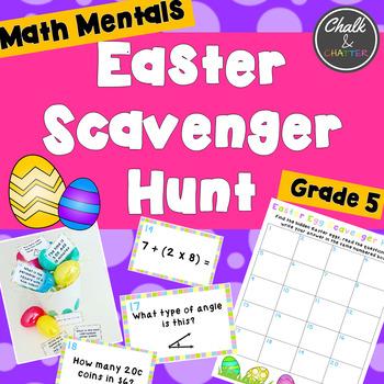 Math Mentals Easter Scavenger Hunt Grade 5
