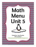 Math Menu #5