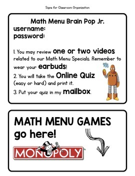 Math Menu: An Alternative to Math Centers