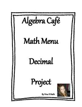 Math Menu Decimal Project