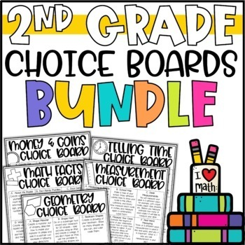 Math Menu Enrichment Activities & Challenges BUNDLE