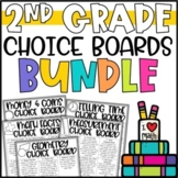 2nd Grade Math Menu Enrichment Activities & Challenges BUNDLE