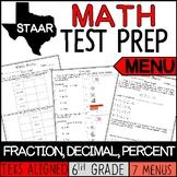 Math Menu Fraction, Decimal, Percent