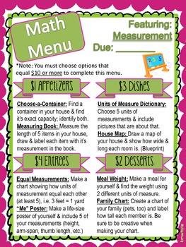 Math Menu - Measurement
