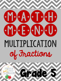 Math Menu: Multiplying Fractions