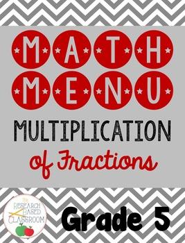 Math Menu: Multiplying Fractions