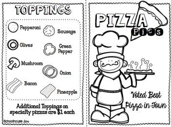 Math Menu:  Pizza Pies (2nd-3rd)