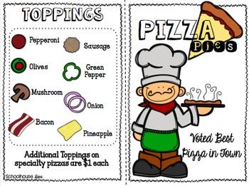 Math Menu:  Pizza Pies (4th-5th)