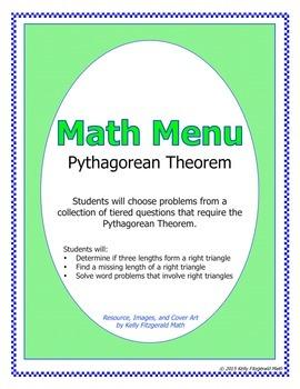 Math Menu: Pythagorean Theorem