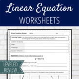 Leveled Slope & Linear Equation Activity (Distance Learning)