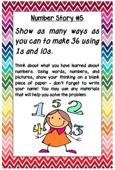 """Math Menu Task Cards using Marilyn Burns's """"Introducing Place Value"""""""