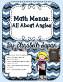 Math Menus: All About Angles