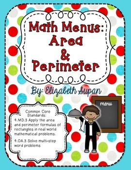 Math Menus: Area and Perimeter