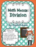 Math Menus: Division
