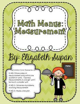 Math Menus: Measurement