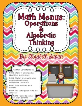 Math Menus: Operations & Algebraic Thinking