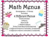 Math Menus for Little Ones