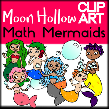 Math Mermaids - Moon Hollow Clip Art