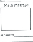 Math Mesage Journal