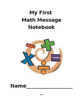Math Message Notebook Cover Sheet