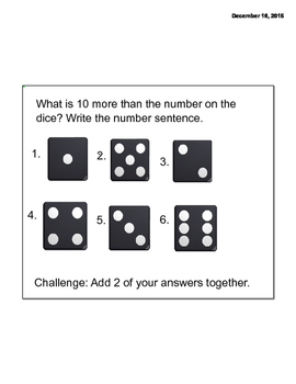 Math Message Week 10