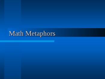 Math Metaphor Chalk Activity
