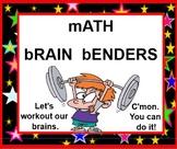 Math Mind Benders SMARTBOARD - Problem Solving