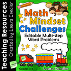 Math Mindset Challenges: Multi-step Editable Word Problems