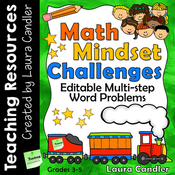Math Mindset Challenges: Multi-step Editable Word Problems