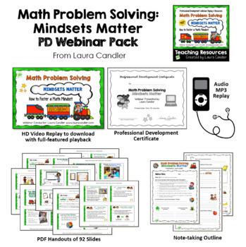 Math Mindset Challenges Bundle | Editable Multi-step Word Problems and Webinar