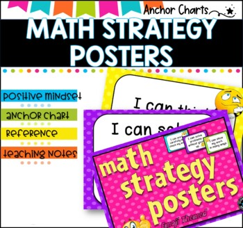 Math Strategy Posters -Positive Mindset